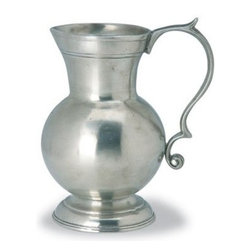 Match Pewter - Small Pitcher by Match Pewter - In a world dominated by mass production, Match pewter is handmade by artisans in Northern Italy. Each piece bears a stamped symbol from the region in which it was made. This delightful piece may be used as a vase or pitcher.