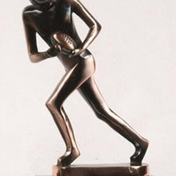 BA - 9.5 Inch Large Nickel Alloy In Motion Football Player Figurine Statue - This gorgeous 9.5 Inch Large Nickel Alloy In Motion Football Player Figurine Statue has the finest details and highest quality you will find anywhere! 9.5 Inch Large Nickel Alloy In Motion Football Player Figurine Statue is truly remarkable.