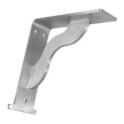 "Federal Brace - Federal Brace Oxford Corbel / Counter Top Support, 8x8 - Our Oxford Countertop Support design is an example of home decore hardware that is elegantly designed strength. This countertop support can really hold its own and your countertop too. With a wavey cross brace support between support flanges the bracket provides movement while remaining sturdy in support of your countertop. The ""column"" foot brings about the name of the bracket design and give the bracket that added long lasting appeal. This countertop support is excellent in many different setting and will truly enhance the most beautiful of coastal homes."