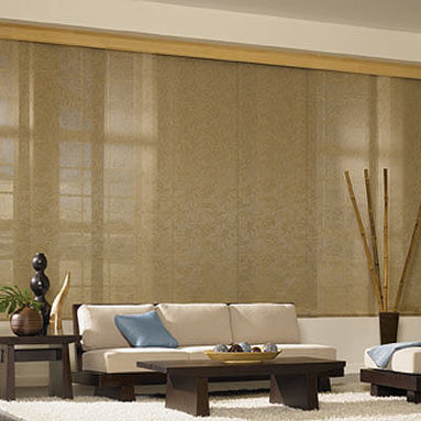 Bali Sliding Panels Roman Shade Fabrics - Bali Sliding Panels offer a modern alternative to standard window treatments! Perfect for patio doors, wide windows or as a room divider, these versatile panels slide along a smooth operating aluminum track. Best of all, Sliding Panels are available in most of the same material styles and colors featured in the Roman, Roller, Solar and Natural Shade collections for a perfectly coordinated look.