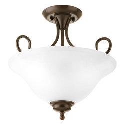 """Progress Lighting - Progress Lighting P3460-20ET Semi-flush 13-1/4"""" Two Light Flush Mount Ceiling - Features:"""