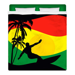 "Eco Friendly ""Surfer Mon"" Queen Size Sheet Set - Our Reggae - Rasta Flavored ""Surfer Mon""  Queen Size Beach Sheet Set is made of a lightweight microfiber for the ultimate experience in softness~ extremely breathable!"