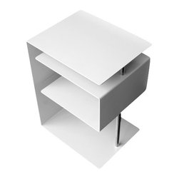 Radius Design - X-Centric Table, White - This side table is a credit to its name in the figurative and literal sense.