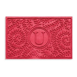 """Weather Guardâ""""¢ - Weather Guard Boxwood Monogrammed """"U"""" 2-Foot x 3-Foot Doormat - Protect your floors from dirt and grime using the stylish, colored Weather Guard entry mat. Weather Guard floor mats are engineered for ultimate protection of your floors."""