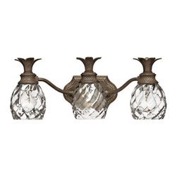 Plantation Row Light - Three Lights - The innovative and elegant design of this Plantation Row Light will add personality and charm to your bathroom.