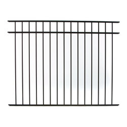 Specrail - Specrail Cheshire Aluminum Fence 3-Rail Panel - 4.5 ft. Multicolor - RR9543BL - Shop for Fencing and Fencing Materials from Hayneedle.com! Define your property lines protect your home or enclose your pool with the Specrail Cheshire Aluminum Fence 3-Rail Panel - 4.5 ft.. Beautifully designed to look like wrought iron this three-rail panel is made from high quality aluminum that won t rust and doesn t require painting or staining. Easy to install this fence rail also meets BOCA pool code requirements in most areas.Additional FeaturesUse with DIY Fence System Universal PostCan be used with the Asbury 543 Arched or Walk GateNot advisable to mix and match fencing brandsDefine your property lines or enclose a poolMeets BOCA pool code requirements in most areasGives you the beauty of traditional wrought ironEasy to installAbout SPECRAILSPECRAIL has been designing aluminum products of the highest quality for over 50 years. They offer the widest selection of any ornamental aluminum fencing company and their extraordinary line includes 11 styles 4 grades and 5 colors. SPECRAIL brings beauty strength and a traditional wrought iron look to their maintenance-free aluminum fencing. Every piece they manufacture represents their strong commitment to meeting the needs of their customers and their dedication to quality.