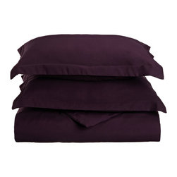 1500 King/California King Duvet Set Microfiber Solid - Plum - Explore the amazing feel of our Vanessa Collection Microfiber Duvets. Made with 100% Microfiber and designed to resist wrinkles and pilling, they will stay like new through many machine wash cycles. Strong and durable, yet luxuriously soft, these duvets offer all the advantages of standard cotton duvets at less cost to you!