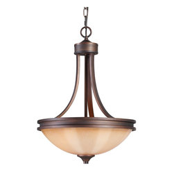 Golden Lighting - Golden Lighting 1051-3P SBZ Hidalgo Transitional Inverted Pendant Light - Golden Lighting 1051-3P SBZ Hidalgo Transitional Inverted Pendant Light