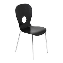 "Lumisource - Black Omega Chair, Black - 19.5"" L x 17.5"" W x 36H"