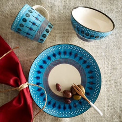 Potter's Workshop Tableware, Blue