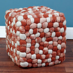 Wool Knot Square Ottoman - 5 Colors -
