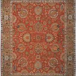 Safavieh - Safavieh Old World OW117A 8' x 10' Copper, Green Rug - Inspired by 19th Century Agra designs, the Old World Collection is made with a special hand-spun heathered yarn, giving its pile an aged character. These rugs are woven tightly, using small knots. The result is a thick and plush pile that has a natural look and is extremely durable.