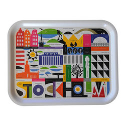 Maria Dahlgren Stockholm Tray - I'm a huge fan of Swedish artist Maria Holmer Dahlgren, and this tray depicting Stockholm's landmarks may be my favorite of her colorful products.