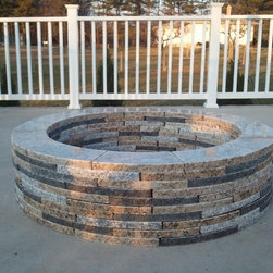 "48"" Fire pits - This is a 48"" fire pit that is around 12.5 inches high.  It is made from solid granite that is recycled.  Easy Do-It-Yourself kit.  It's environmentally friend and has the quality of solid stone."