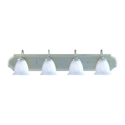 """Savoy House - Savoy House KP-8-511-4 4 Light 36"""" Wide Bathroom Fixture from the Liberty Collec - Four light bathroom fixtureFeaturing marble glassRequires four 60w medium base lamps"""