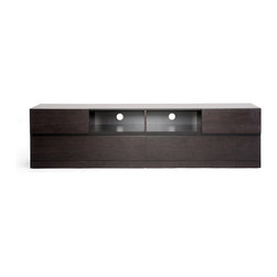 Baxton Studio - Baxton Studio Lovato Dark Brown Modern TV Stand - Hectic lives call for easy ...