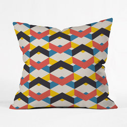 Chevron Lattice Pillow Cover - Chic primary hues weave across this pillow in layered chevron patterns. They add a bold, urban touch that trendy decorators will love. Enjoy their maximum potential against a bright solid-colored accent chair.