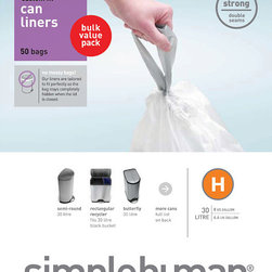 simplehuman - simplehuman Custom Fit 8-gallon Trash Can Liner - simplehuman liners are tailored to fit cans perfectly,so the bag stays completely hidden when the lid is closed.