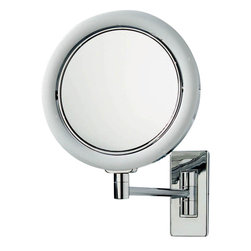 WS Bath Collections - Smile 703 Illuminated Magnifying Mirror - Smile 703 Illuminated Magnifying Makeup Mirror, 7x Magnification, with LED Light