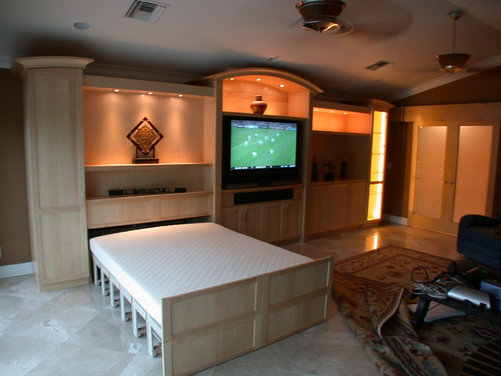 family media room and guest room