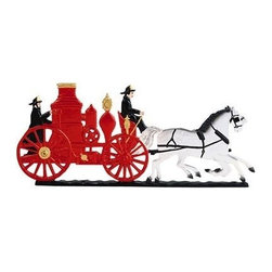 "Whitehall Products LLC - 30"" Fire Wagon Weathervane - Garden Black - • Color: Black"