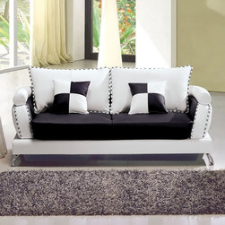 Marthena Home Furnishings - Sofa Jasper Full Length Couch - 2222SFW - Lined with high density foam, while the small of your back is ergonomically comforted by back support pillows.
