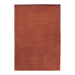 """Couristan - Mystique Aura/Burnished Rust Rug - These captivating, modern-day handmade treasures for the home have been designed to inspire your decorating flavors and provide you with the options you'll need to design that certain environment in your home that represents individuality. The Mystique Collection by Couristan, offers a full-range of brilliant colors that are softly blended against a beautifully textured European wool surface. Rendering a clean, warm textured appearance, each area rug in this loomed-knotted collection reflects simplicity and is enhanced by a palette that features some of today's most desired colors in the home furnishings industry. Enhanced with a beautiful luster wash and velvety soft hand, Mystique's pile provides an inviting fashion statement for the floor without overstating its value and offers an affordable and practical decorating solution for those rooms needing a touch of rustic charm or a spice of color. Features: -Technique: Loom-knotted.-Material: 100% imported wool pile.-Beautiful luster wash to enhance rug's velvety soft hand.-Construction: Handmade.-Cut and Loop Pile Construction Adds Dimension.-Brilliant colors rendering a clean, warm textured appearance.-Primary Color: Burnished Rust.-Secondary Colors: Bark.-Distressed: No.-Collection: Mystique.-Construction: Hand-Made.-Technique: Loom-Knotted.-Primary Pattern: Solid.-Primary Color: Burnished Rust.-Border Material: European Wool.-Border Color: Burnished Rust.-Material: European Wool.-Fringe: No.-Reversible: No.-Rug Pad Needed: Yes.-Water Repellent: No.-Mildew Resistant: No.-Stain Resistant: No.-Fade Resistant: No.-Swatch Available: No.-Eco-Friendly: No.-Outdoor Use: No.-Product Care: Vacuum frequently. Have professionally cleaned when needed..Specifications: -CRI certified: No.-Goodweave certified: No.Dimensions: -Pile Height: 0.35"""".-Overall Product Weight (Rug Size: 2' x 3'): 5 lbs.-Overall Product Weight (Rug Size: 2'6"""" x 4'2""""): 10 lbs.-Overall Product Weight (Rug Size"""