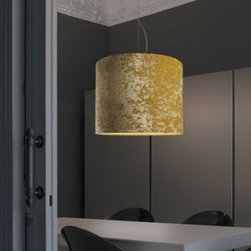 Belinda C50 Pendant Lamp By Modiss Lighting - Belinda C50 by Modiss is a pendant fixture that combines fantastic properties of classic velvet fabric shades, with modern brushed aluminum hardware.