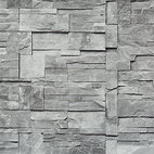 Faux Stone Wallpaper, Grey, Double Roll - Faux Stone is the perfect narrative to stone tiling that would bring the modern look of the stone to your living room.