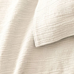 Pine Cone Hill - hardwood matelasse coverlet (ivory) - A modern take on the matelasse coverlet with a tone-on-tone, branchlike stripe. An ideal natural texture in a versatile neutral.��This item comes in��ivory.��This item size is��various sizes.