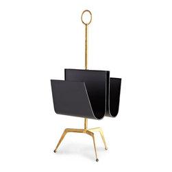 Cyan Design - Siamese Twin Magazine Holder - Black and gold magazine holder.