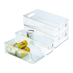 None - Interdesign 4-piece Fridge and Freezer Storage Bins - Organize your fridge or freezer with the stylish Interdesign 4-piece Fridge and Freezer Storage Bins. Each is a masterpiece and features an impressive design that makes it an enticing enhancement for any decor.