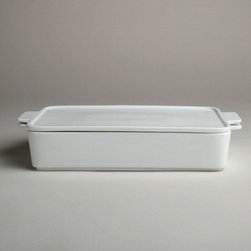 Tag Everyday - White Large Square Baker with Lid - White porcelain. Oven safe to 375�. Microwave and dishwasher safe. Cook-serve-store convenient. Lids double as serving traysColor: White. 2.625 in. H x 13.5 in. L x 7.625 in. W (6.5 cup capacity)