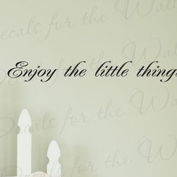 Decals for the Wall - Wall Decal Sticker Quote Vinyl Art Lettering Letter Enjoy the Little Things I12 - This decal says ''Enjoy the little things''