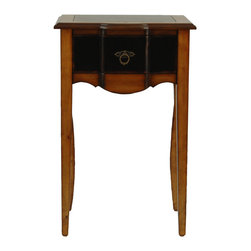 Safavieh - Safavieh Sologna Black & Cherry 18x13 Side Table in Light & Dark Brown - Why compromise warmth or style when the Solonga Side Table offers rustic elegance that would feel at home in a royal hunting lodge? Its light or dark brown honey oak finish on birch wood adds traditional character to a bedroom, living room or foyer. What's included: Side Table (1).