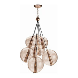 Arteriors Home - Arteriors Home Caviar Adj Lg Rose Gold/Rose Glass Cluster - Arteriors Home DK899 - Drop this enchanting light from your ceiling and you'll think you've been blowing bubbles. Delicate glass spheres combine with threadlike polished nickel cords to give you an ethereal, romantic ambiance. This glass bouquet would look stunning in your foyer, dining room or living room. If you're very daring, hang one in your bath for an elegant, unusual design. You'll be forever blowing bubbles.