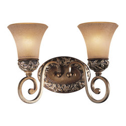Minka Lavery - Minka Lavery ML 5552 2 Light Bathroom Vanity Light from the Salon Grand Collecti - Two Light Bathroom Vanity Light from the Salon Grand CollectionFeatures: