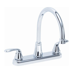 "Premier Faucet - Premier Waterfront Chrome Lead Free 8"" Two Handle Kitchen Sink Faucet - Premier Waterfront Lead-Free Two-Handle 8"" Kitchen Faucet Less Sprayer in Polished Chrome"
