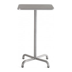 20-06 Square Bar Table 24 - Table Top: Brushed Aluminum
