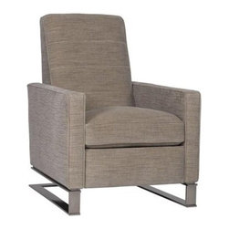 Tate Recliner - Isn't it a requirement that every man cave have a recliner (or two)? That being the case, this sleek version would make a wonderful — and comfy —addition to your space.