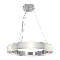 Access Lighting - Access Lighting 50465-BS/FST Oracle 6 Light Chandeliers in Brushed Steel - This 6 light Chandelier from the Oracle collection by Access will enhance your home with a perfect mix of form and function. The features include a Brushed Steel finish applied by experts. This item qualifies for free shipping!