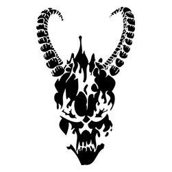 Stencil Ease - Horned Skull Stencil - Horned Skull Stencil - BASIC Stencils Collection