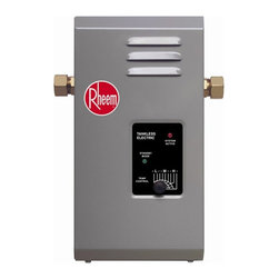My brand is not in this list - Rheem 'RTE 7' 2.5 GPM Electric Tankless Water Heater - This tankless water heater from Rheem is ideal for a bathroom vanity with multiple sinks. Its compact design fits almost anywhere and has continuous hot water on-demand.