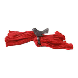 """MarktSq - Bird Napkin Ring (Set of 2) - Bring in color and the outdoors with this charming and elegantly crafted napkin ring. These rings are made of aluminum and have a dark antique copper finish. We have four different colors including this so you can mix up the colors and dazzle up your table setting. Sold as a set of 2. (Napkin not included). Clean with soft dry cloth. Approximate Dimensions: Ring Dia 2"""" x 4"""" H x 4"""" W."""