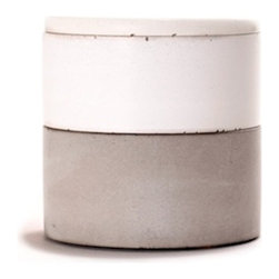 Culinarium - Mini Spice Stacker Set - This stacking set is composed of white and gray concrete.
