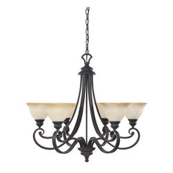 Designers Fountain - Designers Fountain 96186 Six Light Up Lighting Chandelier from the Barcelona Col - Features: