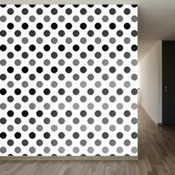 WallsNeedLove Grayscale Polka Self-Adhesive Wallpaper - WallsNeedLove Grayscale Polka Self-Adhesive Wallpaper is wonderfully chic, and with repositionable adhesive, it goes where you go. About Walls Need LovePeel. Stick. Repeat. Walls Need Love started in 2009. They are a small company filled with people-loving sticker fiends. Walls Need Love wants to make your house the stylish dream home you've always wanted and do it with easy-to-use vinyl wall decals. Walls Need Love has been featured in Better Homes and Gardens, Good Housekeeping, USA Today, Fab, and Apartment Therapy.