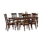 Standard Furniture - Standard Furniture Woodmont 7-Piece Leg Dining Room Set with Arm Chairs - Woodmont Features graceful and soft shaping in a clean urban style. Striking lattice accents on chair backs are perfect for today's modern home. Rich design and elegant styling invite a relaxed setting in your home.