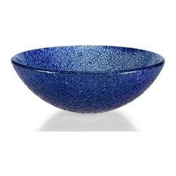 Xylem - Blue Bits Glass Vessel Sink - GV104BLM - Manufacturer SKU: GV104BLM.