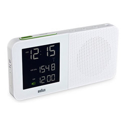 Braun - Braun - Digital Alarm Clock Radio in White - New for 2012 Braun's Digital table clock collection making use of updated technologies without losing the design discipline of Braun's golden era. The digital table clocks are brand new designs under the direction of Makus Orthey, senior designer with Braun.